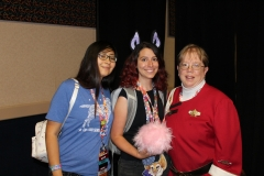 Jennie presents a TAS Tribble to Freedom Service Dogs